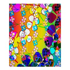 Abstract Flowers Design Shower Curtain 60  X 72  (medium)  by Simbadda