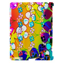 Abstract Flowers Design Apple Ipad 3/4 Hardshell Case (compatible With Smart Cover) by Simbadda