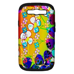 Abstract Flowers Design Samsung Galaxy S Iii Hardshell Case (pc+silicone) by Simbadda
