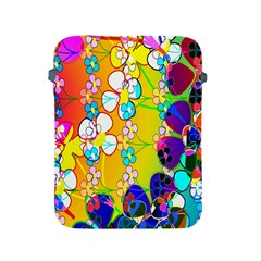 Abstract Flowers Design Apple Ipad 2/3/4 Protective Soft Cases by Simbadda
