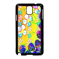 Abstract Flowers Design Samsung Galaxy Note 3 Neo Hardshell Case (black) by Simbadda
