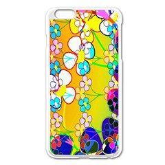 Abstract Flowers Design Apple Iphone 6 Plus/6s Plus Enamel White Case by Simbadda