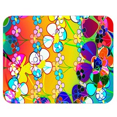 Abstract Flowers Design Double Sided Flano Blanket (medium)  by Simbadda