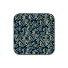 Gradient Flowers Abstract Background Rubber Coaster (square)  by Simbadda