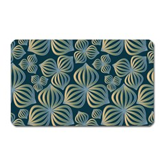 Gradient Flowers Abstract Background Magnet (rectangular) by Simbadda