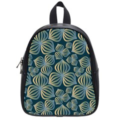 Gradient Flowers Abstract Background School Bags (small)  by Simbadda