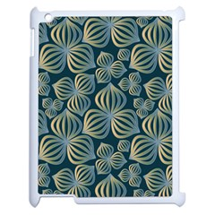 Gradient Flowers Abstract Background Apple Ipad 2 Case (white) by Simbadda