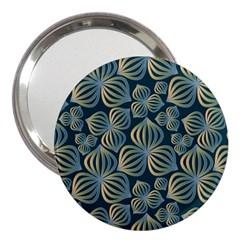 Gradient Flowers Abstract Background 3  Handbag Mirrors by Simbadda