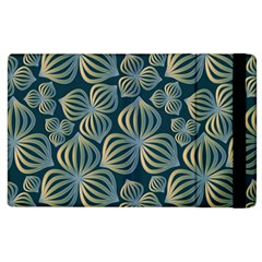 Gradient Flowers Abstract Background Apple Ipad 2 Flip Case by Simbadda