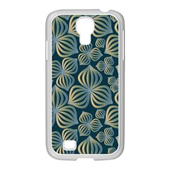 Gradient Flowers Abstract Background Samsung Galaxy S4 I9500/ I9505 Case (white) by Simbadda