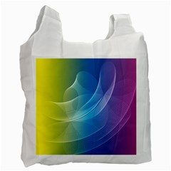 Colorful Guilloche Spiral Pattern Background Recycle Bag (one Side) by Simbadda