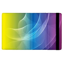 Colorful Guilloche Spiral Pattern Background Apple Ipad 3/4 Flip Case by Simbadda