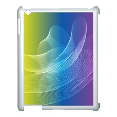 Colorful Guilloche Spiral Pattern Background Apple Ipad 3/4 Case (white) by Simbadda