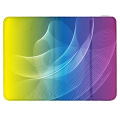 Colorful Guilloche Spiral Pattern Background Samsung Galaxy Tab 7  P1000 Flip Case by Simbadda