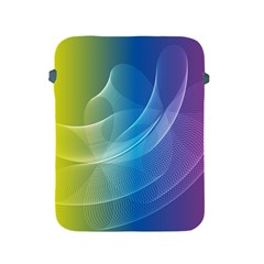 Colorful Guilloche Spiral Pattern Background Apple Ipad 2/3/4 Protective Soft Cases by Simbadda