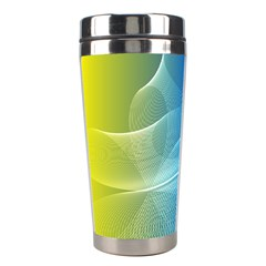 Colorful Guilloche Spiral Pattern Background Stainless Steel Travel Tumblers by Simbadda