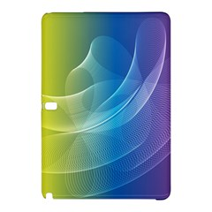 Colorful Guilloche Spiral Pattern Background Samsung Galaxy Tab Pro 12 2 Hardshell Case by Simbadda
