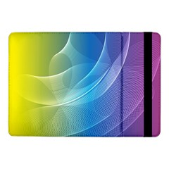 Colorful Guilloche Spiral Pattern Background Samsung Galaxy Tab Pro 10 1  Flip Case by Simbadda