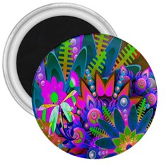 Wild Abstract Design 3  Magnets by Simbadda