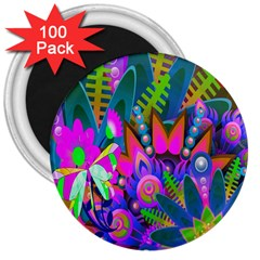 Wild Abstract Design 3  Magnets (100 Pack) by Simbadda