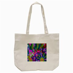 Wild Abstract Design Tote Bag (cream) by Simbadda