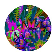 Wild Abstract Design Round Ornament (two Sides) by Simbadda