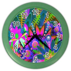 Wild Abstract Design Color Wall Clocks by Simbadda
