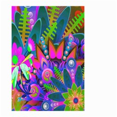 Wild Abstract Design Small Garden Flag (two Sides) by Simbadda