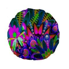 Wild Abstract Design Standard 15  Premium Round Cushions by Simbadda