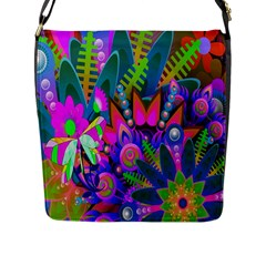 Wild Abstract Design Flap Messenger Bag (l)  by Simbadda