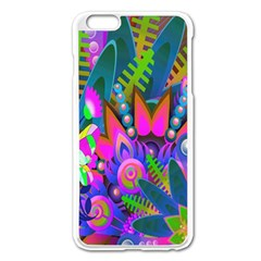 Wild Abstract Design Apple Iphone 6 Plus/6s Plus Enamel White Case by Simbadda