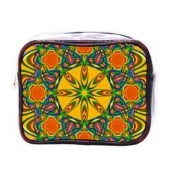 Seamless Orange Abstract Wallpaper Pattern Tile Background Mini Toiletries Bags by Simbadda