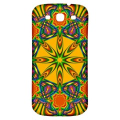 Seamless Orange Abstract Wallpaper Pattern Tile Background Samsung Galaxy S3 S Iii Classic Hardshell Back Case by Simbadda