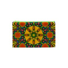 Seamless Orange Abstract Wallpaper Pattern Tile Background Cosmetic Bag (xs) by Simbadda
