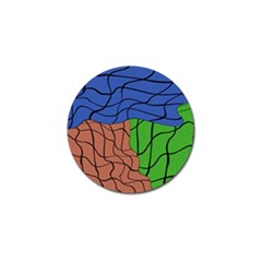 Abstract Art Mixed Colors Golf Ball Marker by Simbadda