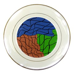 Abstract Art Mixed Colors Porcelain Plates by Simbadda