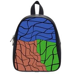 Abstract Art Mixed Colors School Bags (small)  by Simbadda