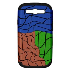 Abstract Art Mixed Colors Samsung Galaxy S Iii Hardshell Case (pc+silicone) by Simbadda