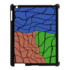 Abstract Art Mixed Colors Apple Ipad 3/4 Case (black) by Simbadda