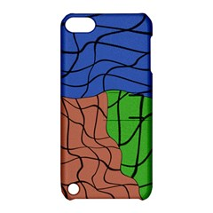 Abstract Art Mixed Colors Apple Ipod Touch 5 Hardshell Case With Stand by Simbadda