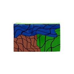 Abstract Art Mixed Colors Cosmetic Bag (xs) by Simbadda