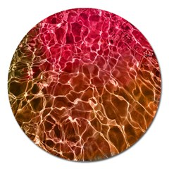 Background Water Abstract Red Wallpaper Magnet 5  (round) by Simbadda