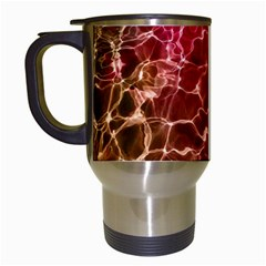 Background Water Abstract Red Wallpaper Travel Mugs (white) by Simbadda