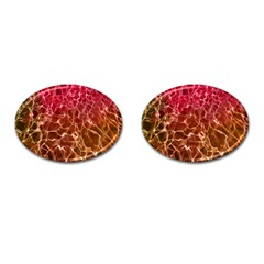 Background Water Abstract Red Wallpaper Cufflinks (oval) by Simbadda