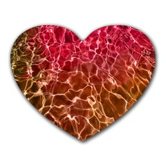 Background Water Abstract Red Wallpaper Heart Mousepads by Simbadda