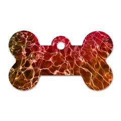 Background Water Abstract Red Wallpaper Dog Tag Bone (one Side) by Simbadda