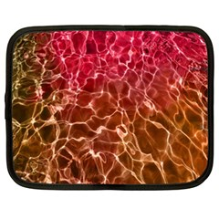 Background Water Abstract Red Wallpaper Netbook Case (xxl)  by Simbadda