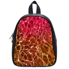 Background Water Abstract Red Wallpaper School Bags (small)  by Simbadda