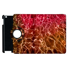 Background Water Abstract Red Wallpaper Apple Ipad 2 Flip 360 Case by Simbadda