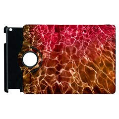 Background Water Abstract Red Wallpaper Apple Ipad 3/4 Flip 360 Case by Simbadda